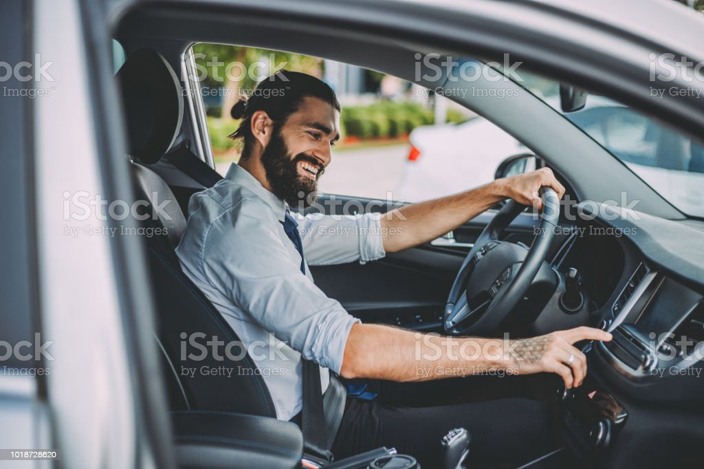 Doing business while on the move stock photo