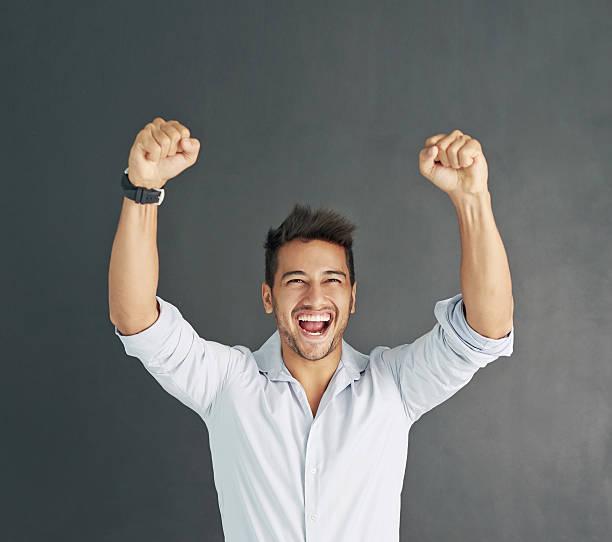 Doing his victory dance - foto de stock