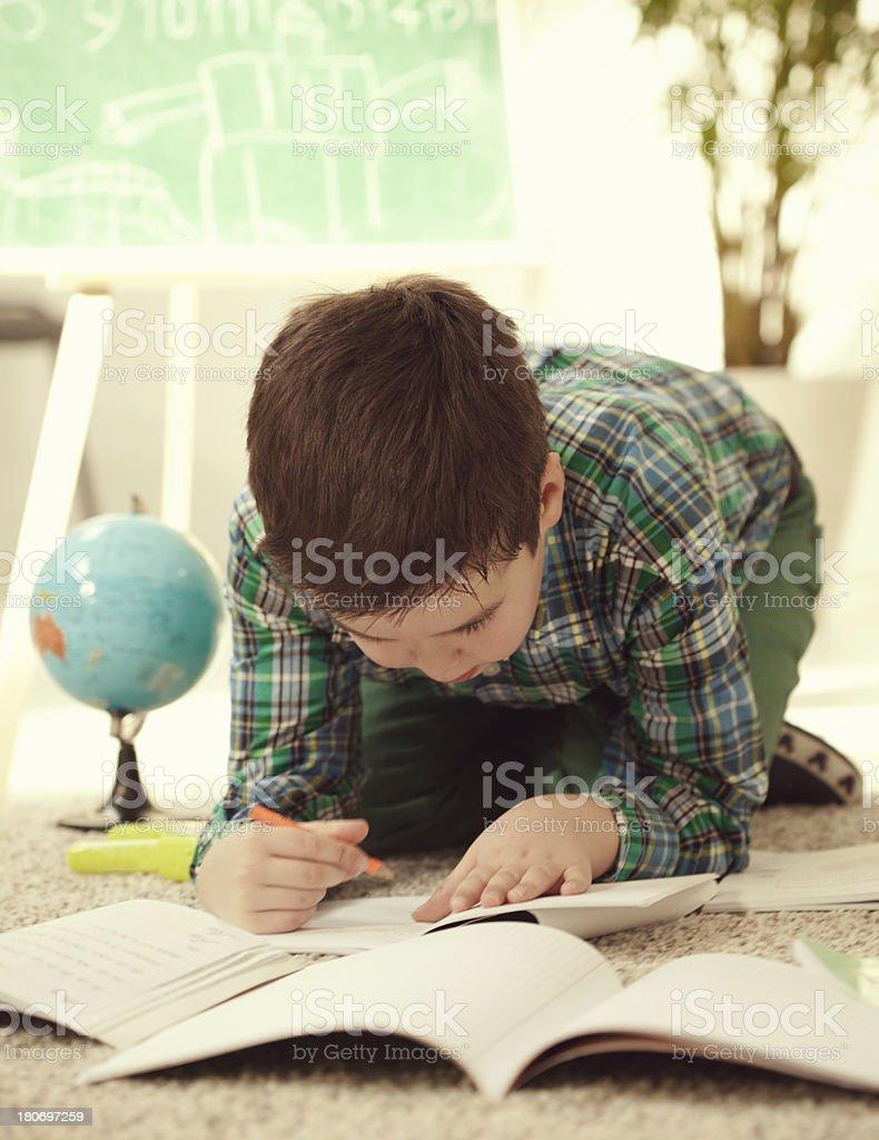 Doing Homework royalty-free stock photo