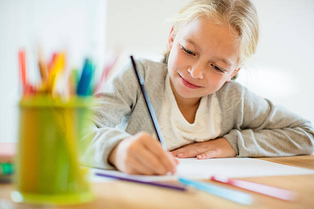 doing homework - child stock photos and pictures