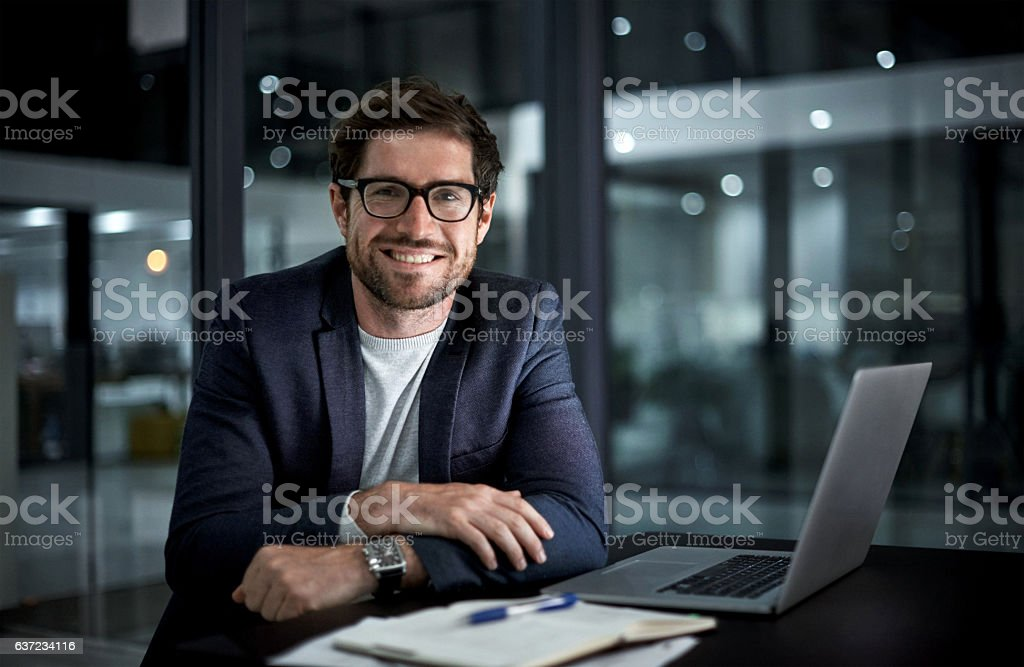Doing it for the love of success stock photo