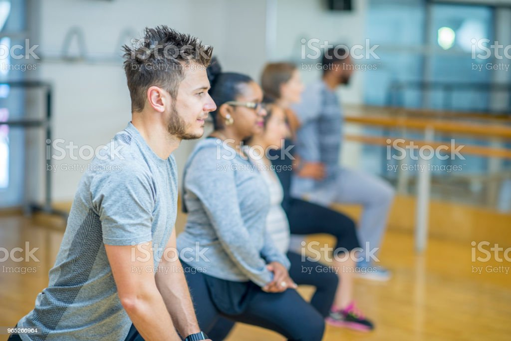 Doing Lunges royalty-free stock photo