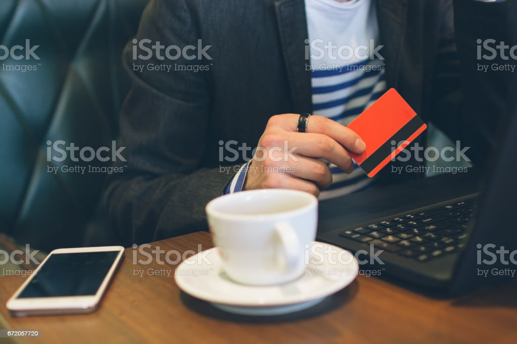 Doing payment stock photo