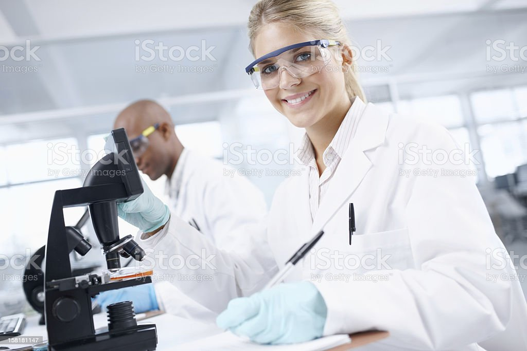 Doing research to gain knowledge stock photo