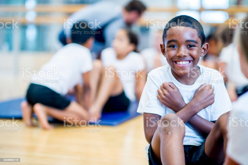 Doing Sit-Ups stock photo
