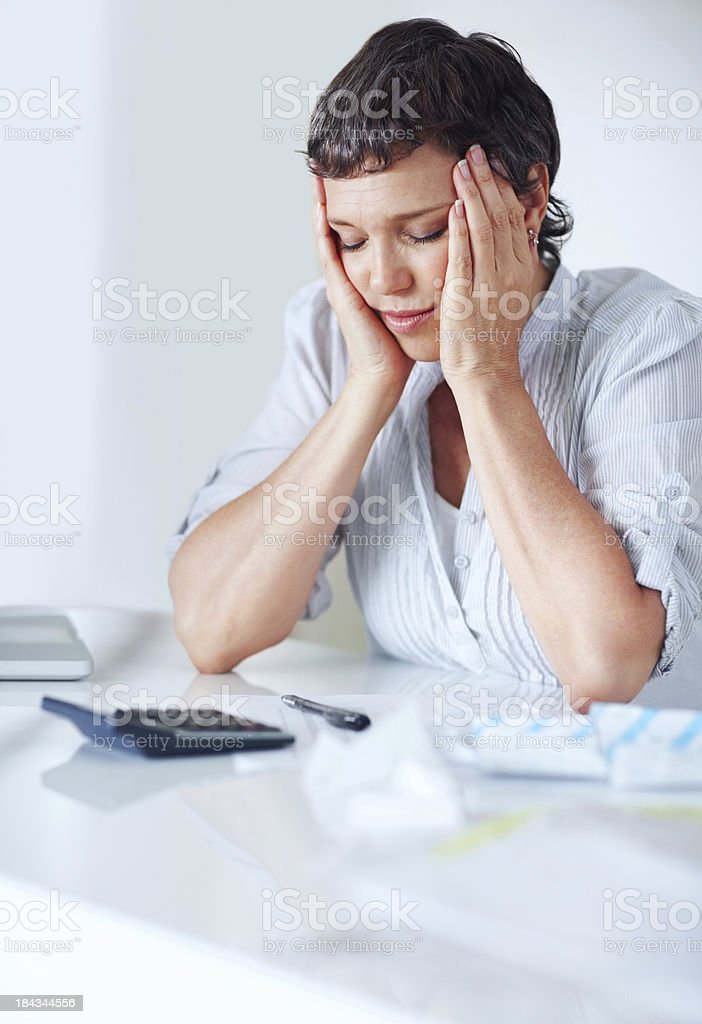 Doing taxes is exhausting royalty-free stock photo