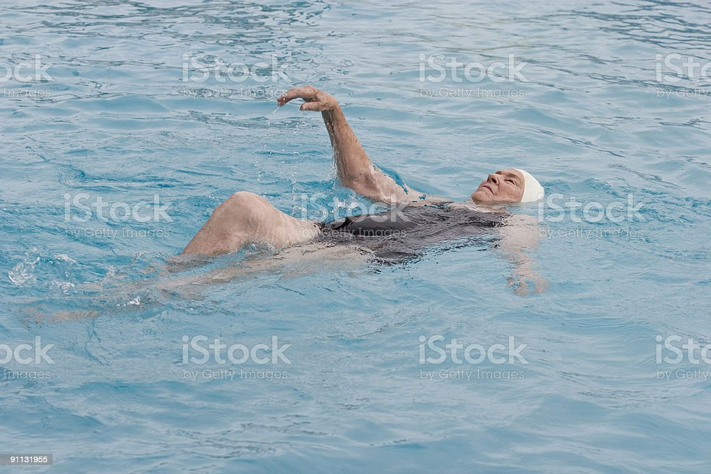 Doing the backstroke stock photo
