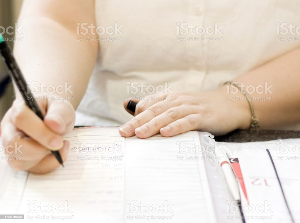 doing the books. Keeping score stock photo