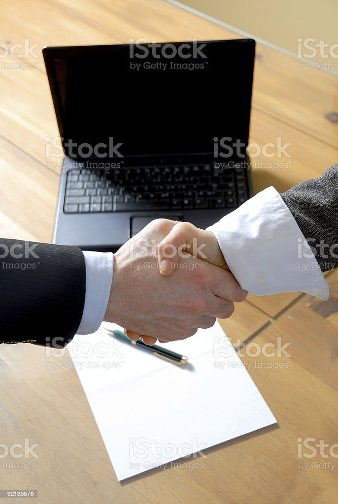 doing the deal royalty-free stock photo