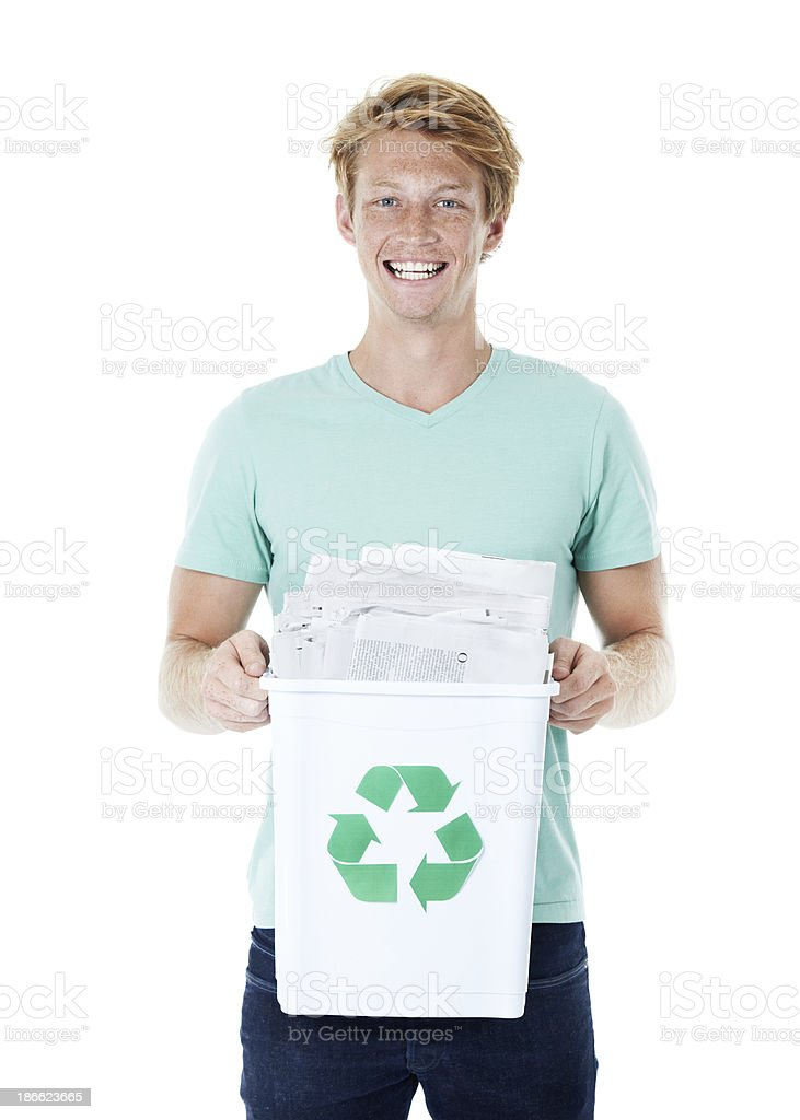 Doing the responsible thing royalty-free stock photo