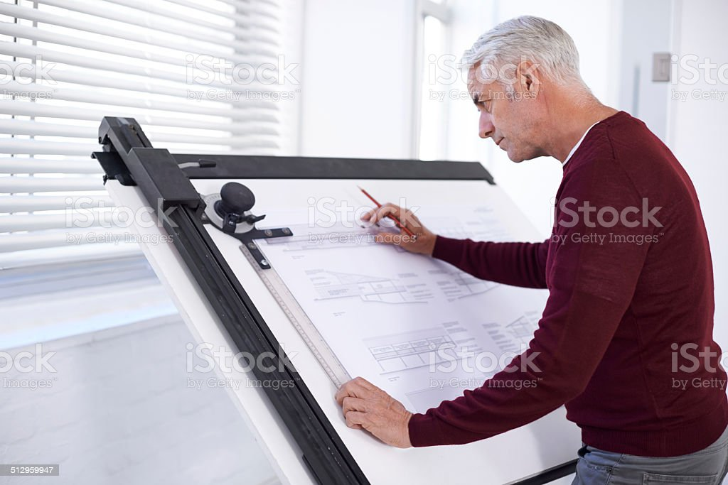 Doing what he does best stock photo