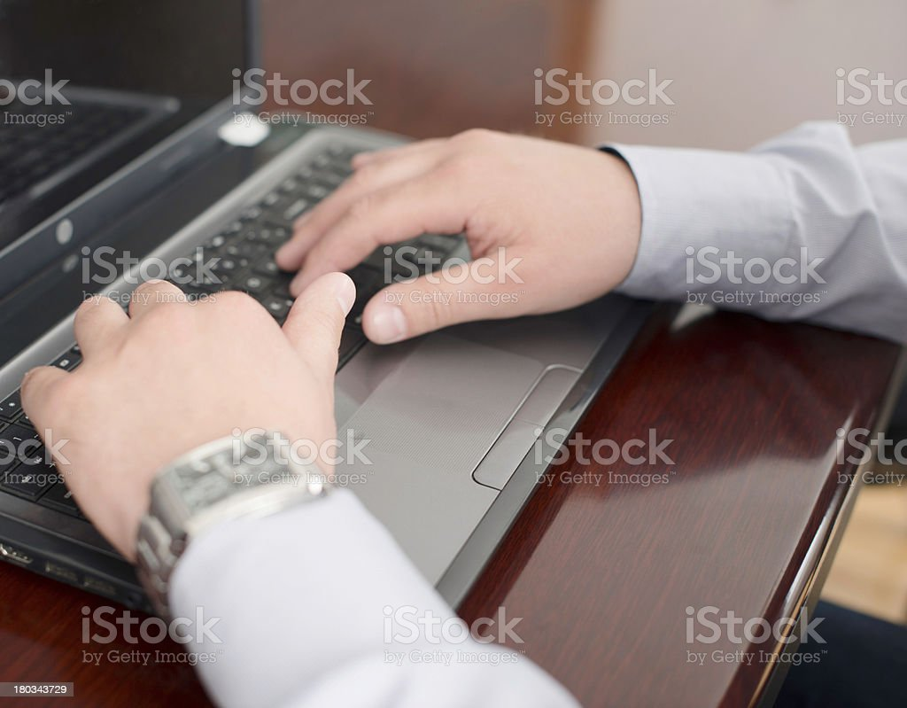 Doing work royalty-free stock photo