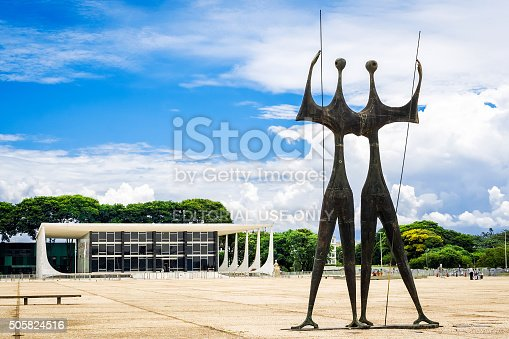 istock Dois Candangos Monument in Brasilia, Capital of Brazil 505824516