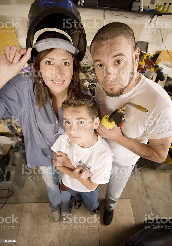 Do-It-Yourself family royalty-free stock photo