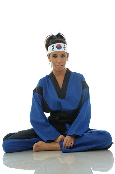 dojang girl - martial arts gerville stock pictures, royalty-free photos & images