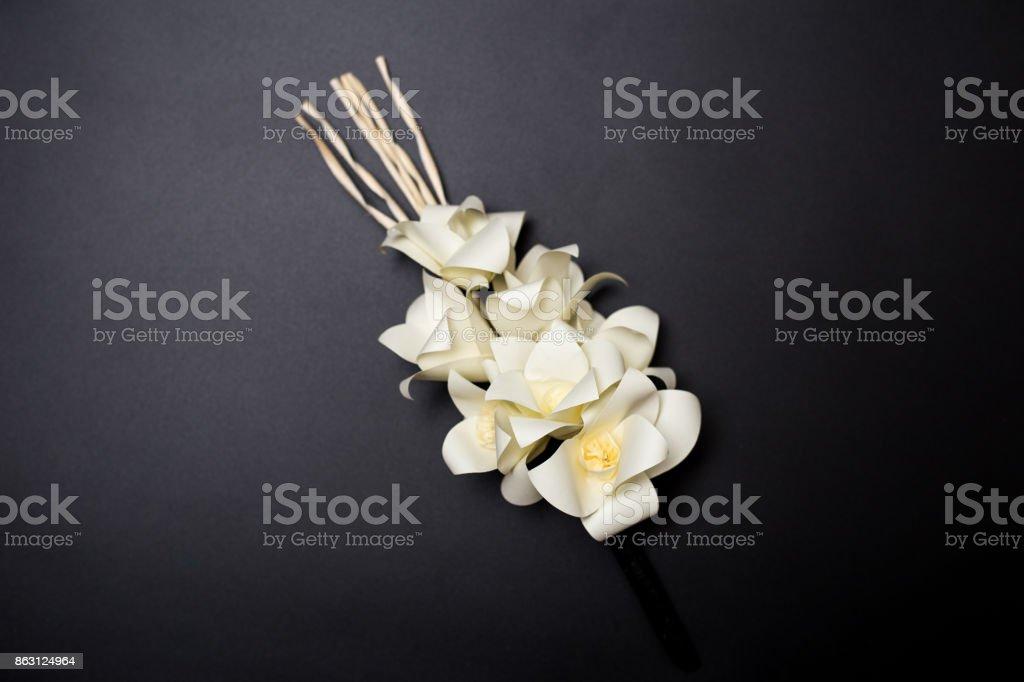 Dok mai chan thai artificial flowers used during a funeral stock thai artificial flowers used during a funeral royalty free stock photo mightylinksfo