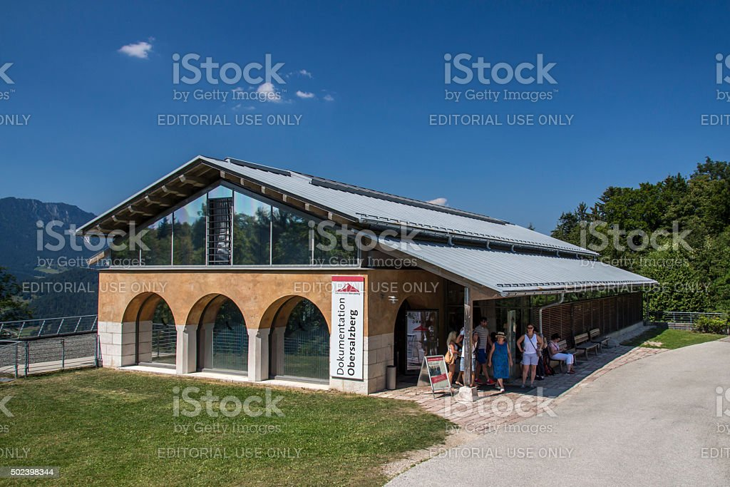 Dokumentation Obersalzberg building close to Berchtesgaden in Germany, 2015 stock photo