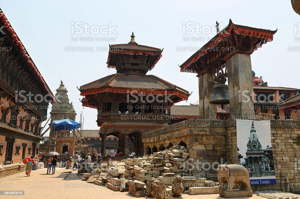 Dolakha Bhimsen Temple in Bhaktapur, Nepal stock photo