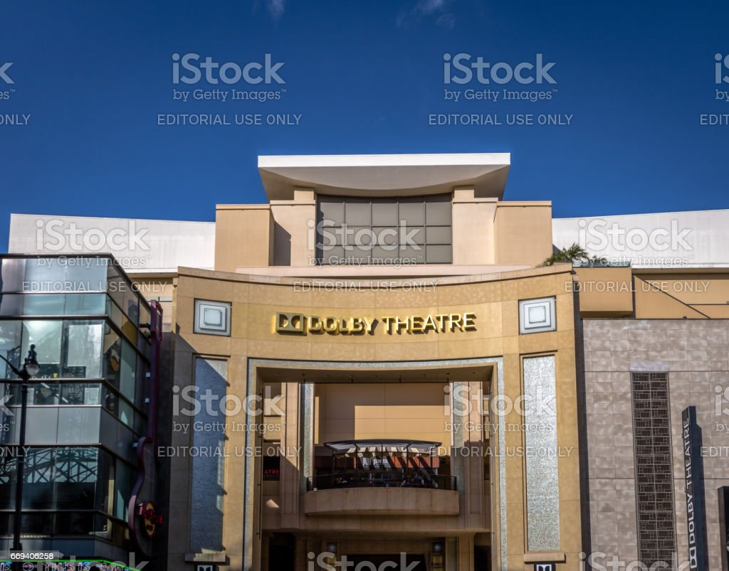 Dolby Theatre on Hollywood Boulevard - Los Angeles, California, USA - foto stock