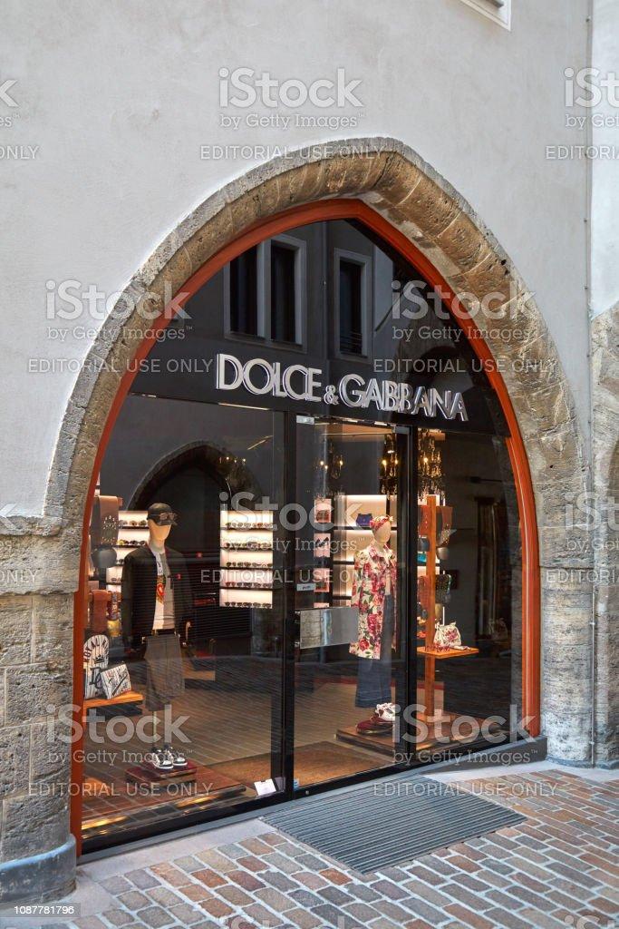 Sankt Moritz, Switzerland - August 16, 2018: Dolce Gabbana luxury...