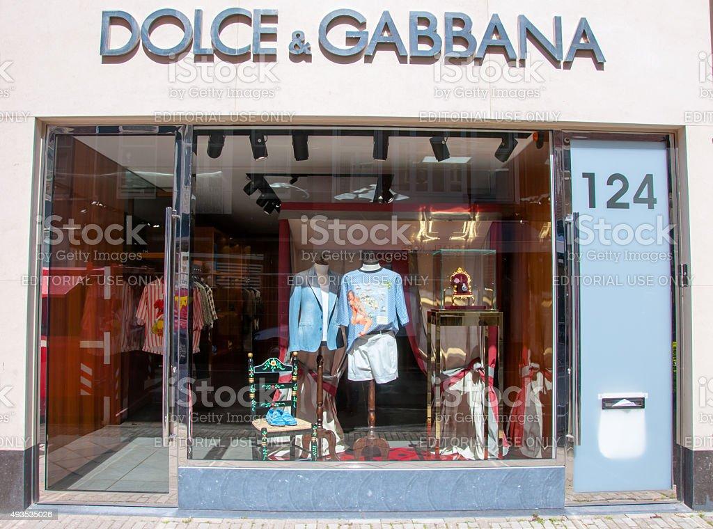 Dolce & Gabbana store on P.C.Hooftstraat shopping street. Amsterdam. stock photo