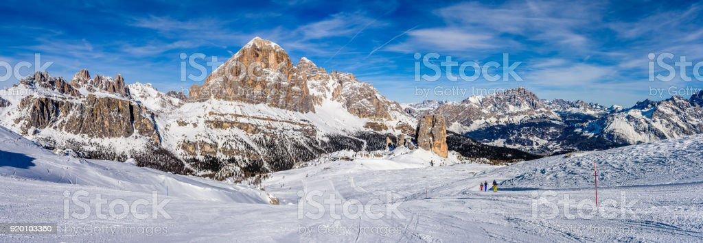 Dolimites panorama stock photo