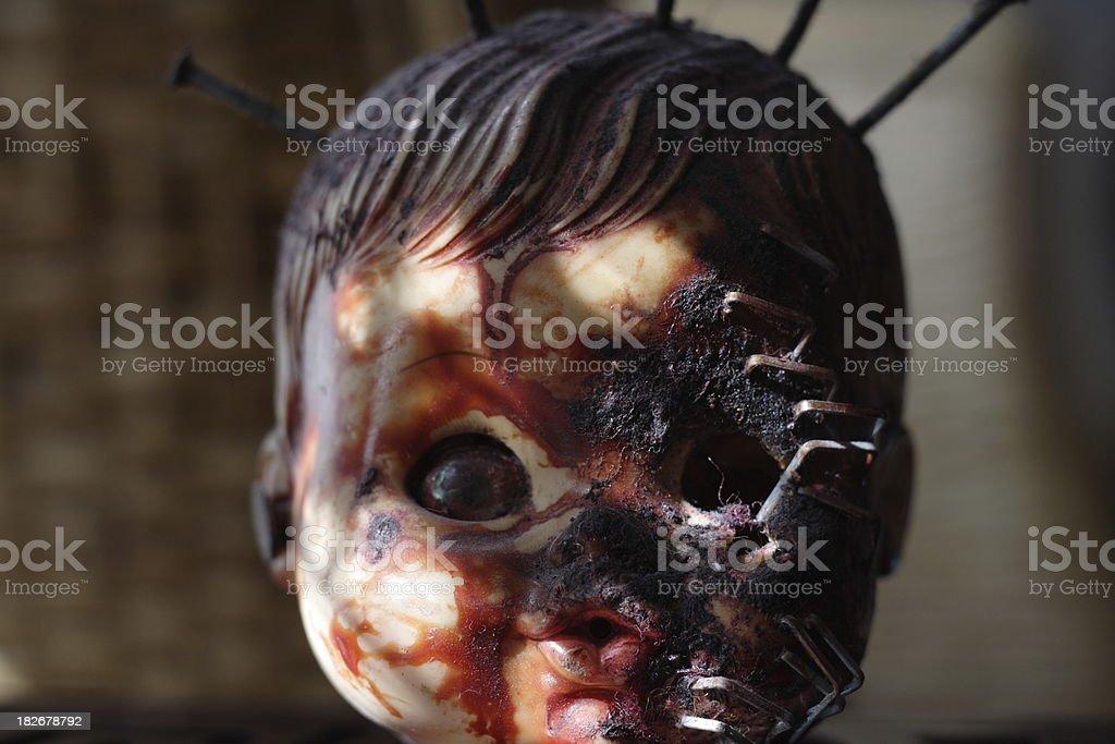 Doll horror royalty-free stock photo