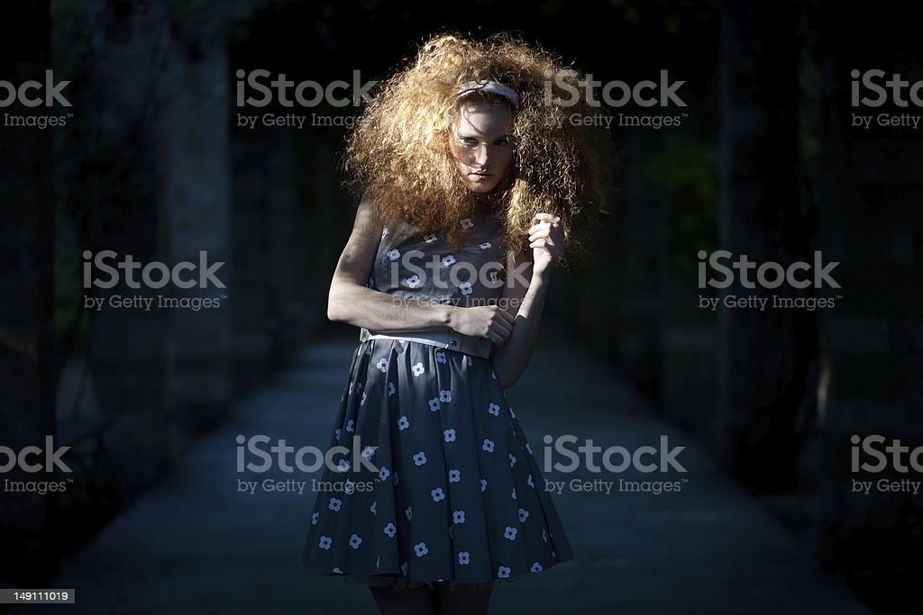 Doll like fashion portrait stock photo