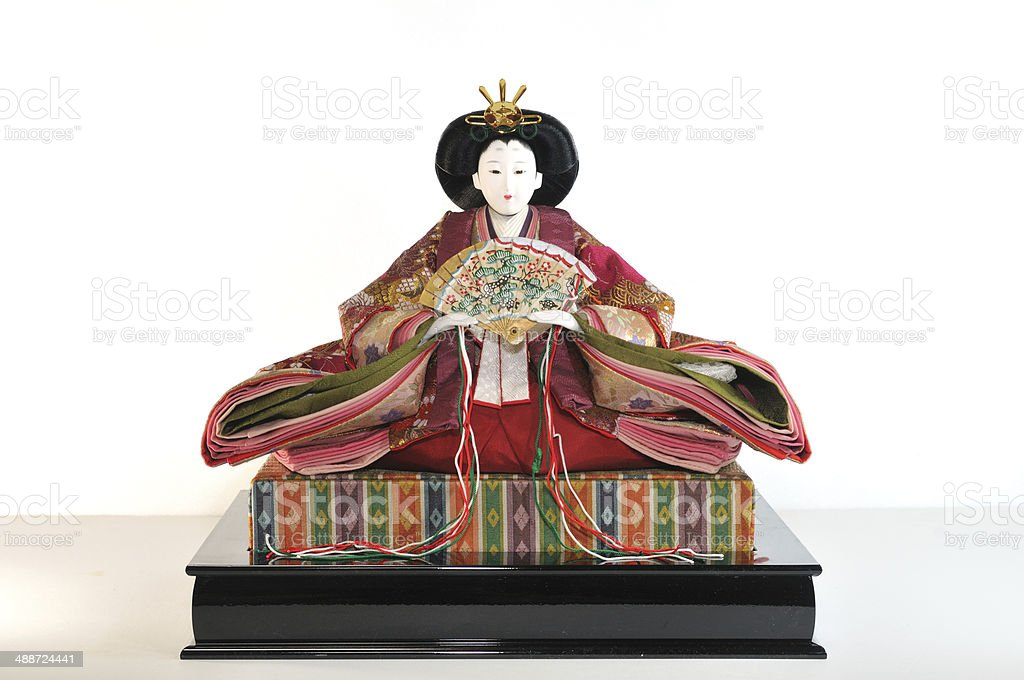 Doll of a traditional Japanese woman royalty-free stock photo