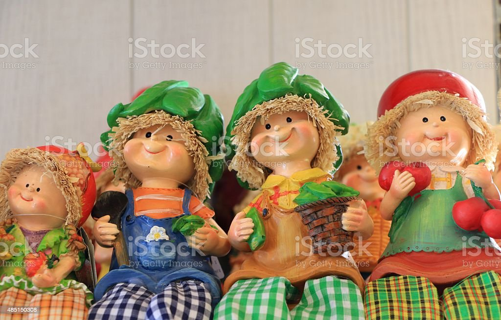 Doll Team Wood stock photo