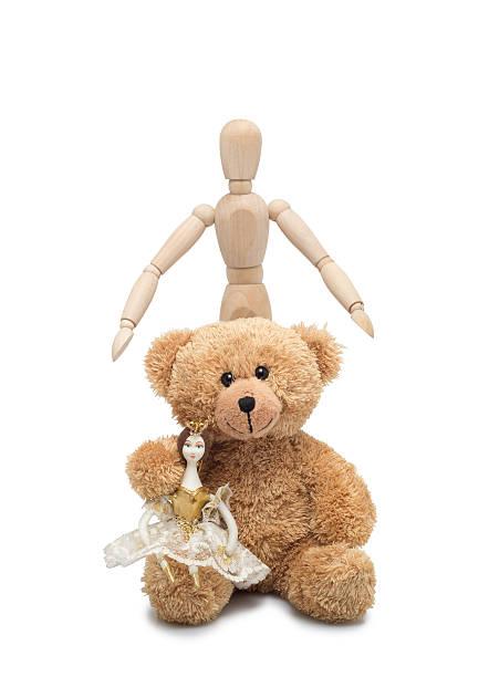 puppe, teddy und mann - geburtstagsgeschenke für beste freundin stock-fotos und bilder