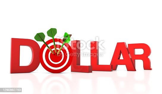 Dollar 3D Word with Target and Dart