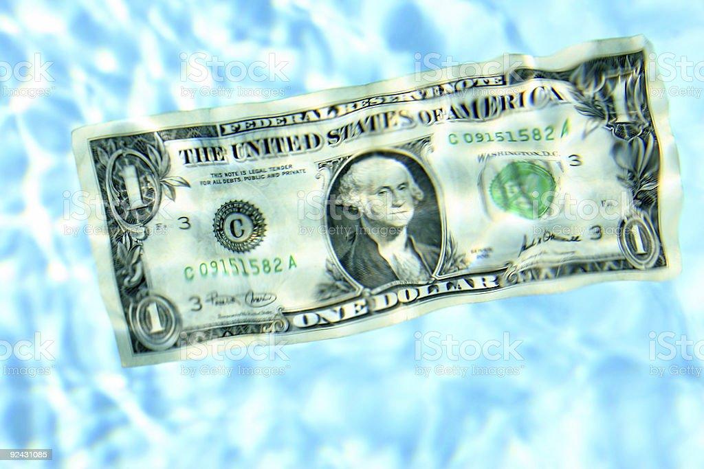 Dollar Afloat stock photo