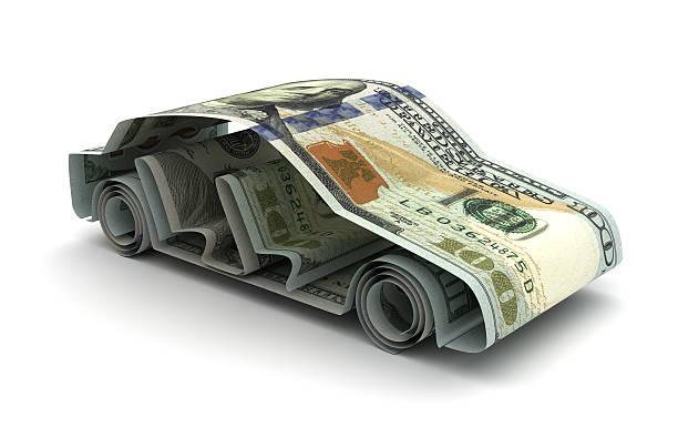 Dollar and Car stock photo