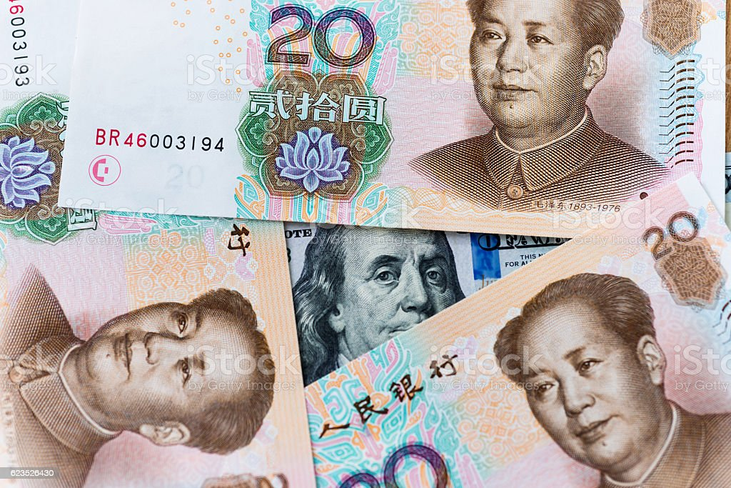 Us Dollar And China Yuan Stock Photo - Download Image Now