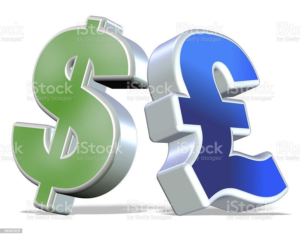 Dollar and Pound royalty-free stock photo