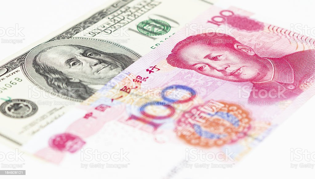 Dollar and RMB stock photo