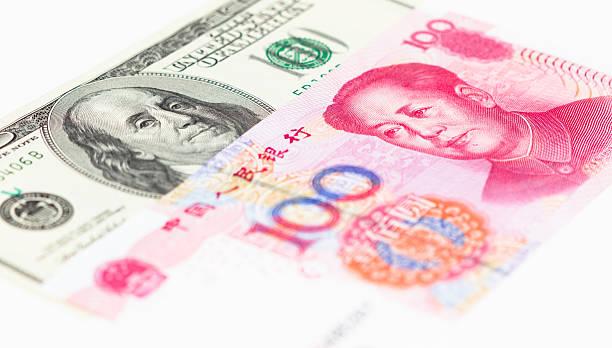 dollar und,-rmb - pengpeng stock-fotos und bilder