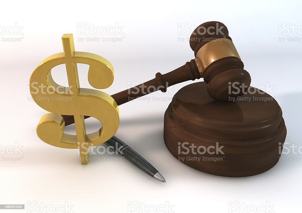 Dollar Auction stock photo