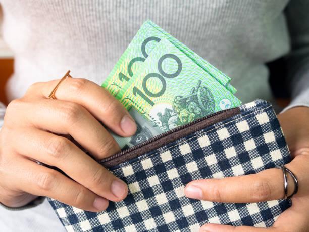Dollar australia money. stock photo