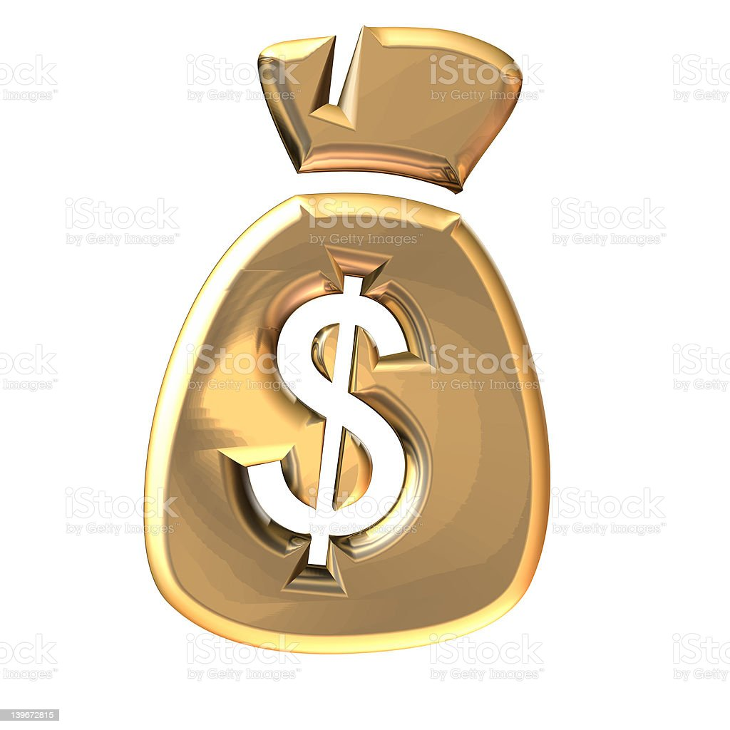 Dollar bag royalty-free stock photo