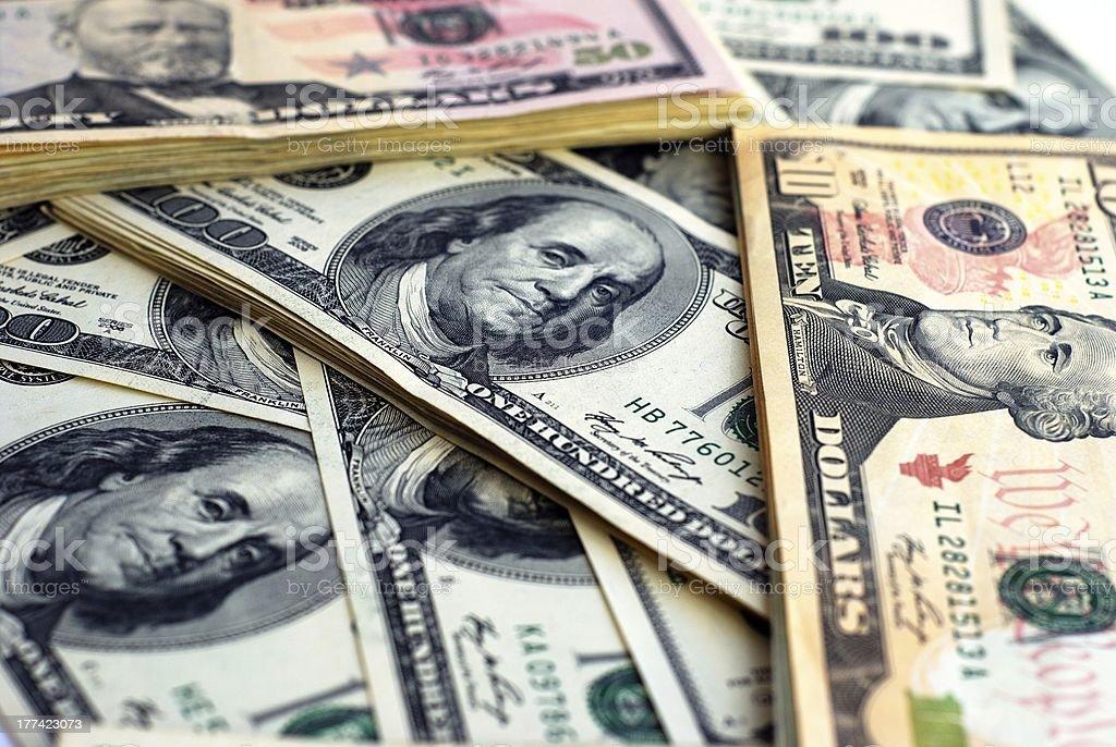 Dollar bank note money background royalty-free stock photo