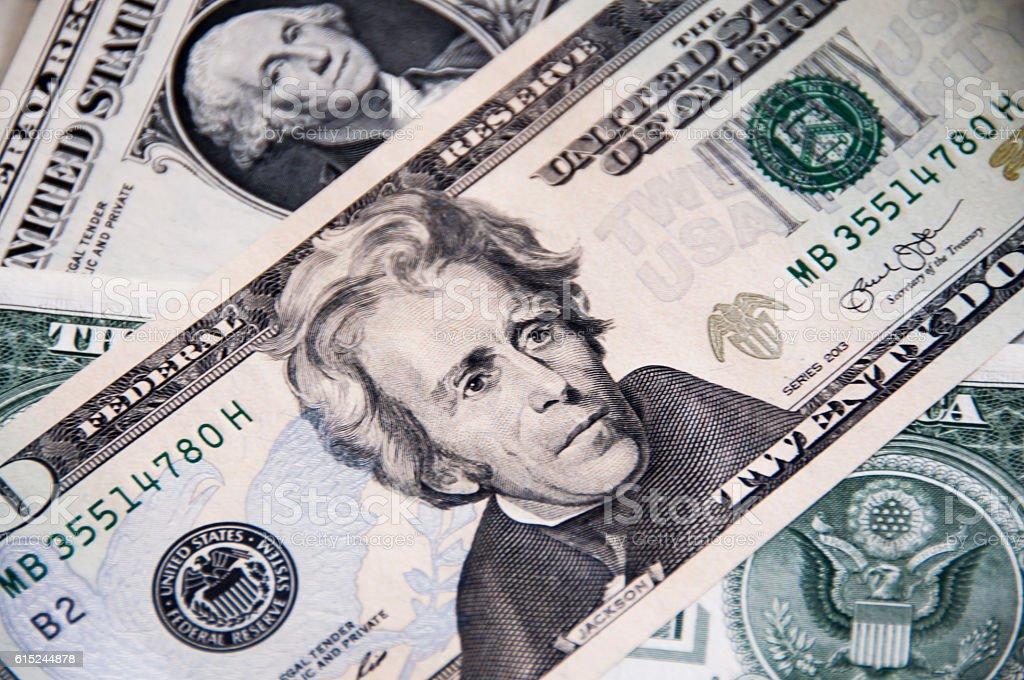 US Dollar Banknote 20,-US-Dollar – Foto