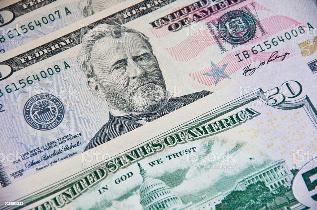 US Dollar Banknote 50,-US-Dollar – Foto