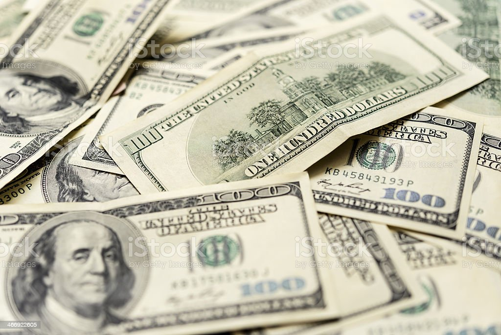 dollar banknotes royalty-free stock photo