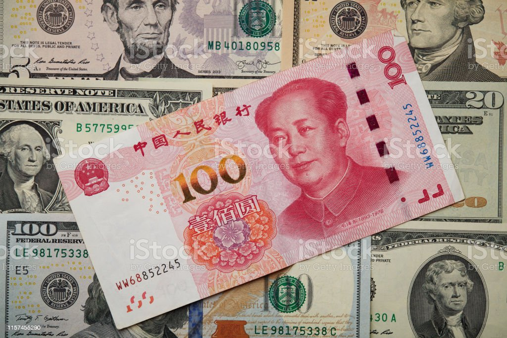 Us Dollar Bill And China Yuan Banknote Macro Chinese And Usa Economy Finance Trade Business Money Closeup Stock Photo Download Image Now Istock