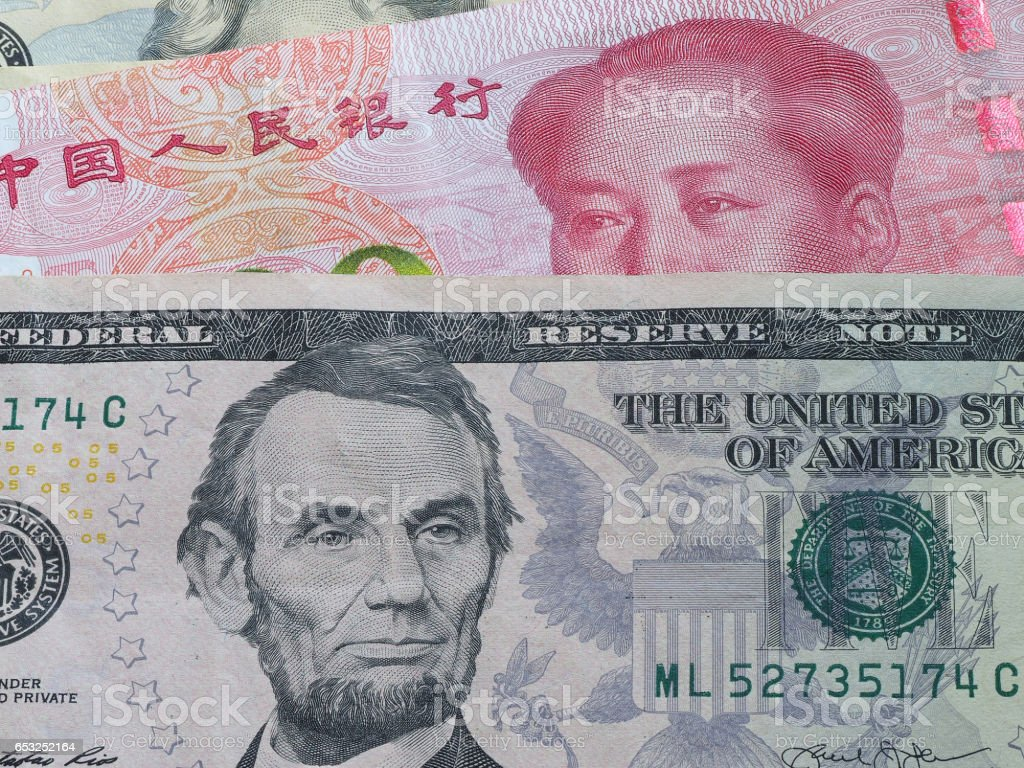 Us Dollar Bill And China Yuan Banknote Macro Chinese And Usa Economy Finance Trade Business Money Closeup Forex Concept Stock Photo Download Image Now Istock
