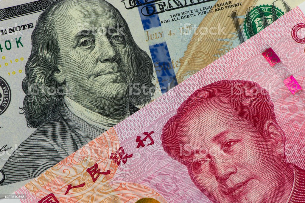 Us Dollar Bill And Chinese Yuan Banknote Usd Vs Rmb Stock Photo Download Image Now Istock