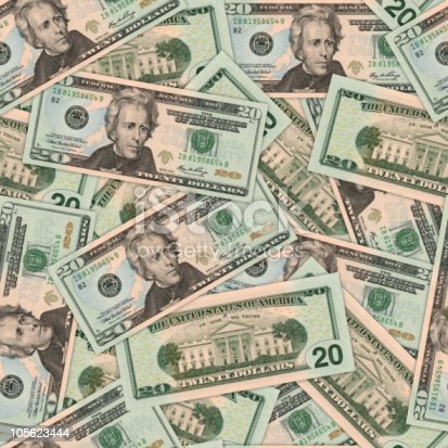 20 Dollar Bill Background Stock Photo & More Pictures of American Twenty Dollar Bill