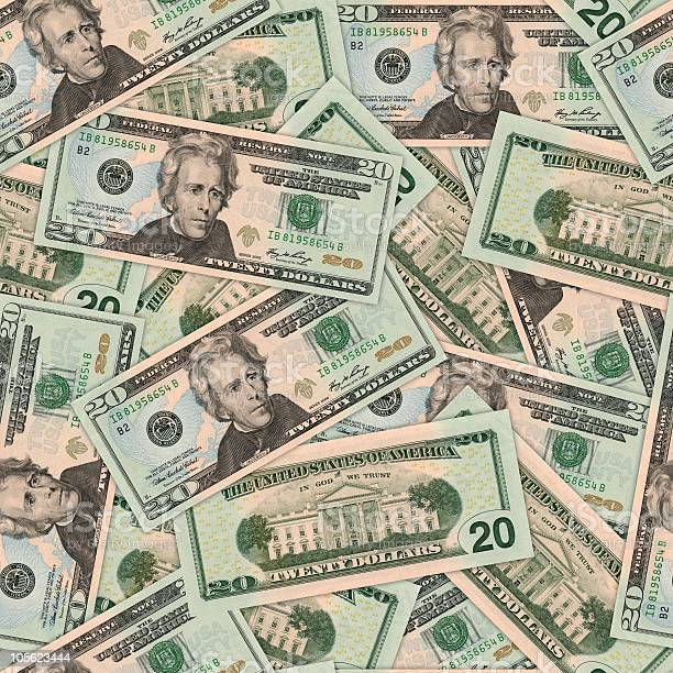 20 Dollar Bill Background Stock Photo - Download Image Now